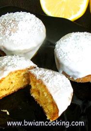 Кексы «Маффины» лимонные с кокосовой стружкой