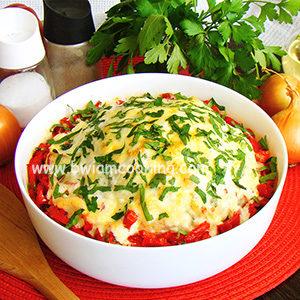 Цветная капуста с фаршем и сыром в духовке