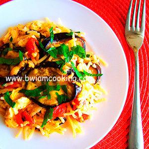 Запеканка из макарон с сыром и баклажанами – ВИДЕО