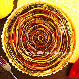 Спиральный овощной пирог в духовке