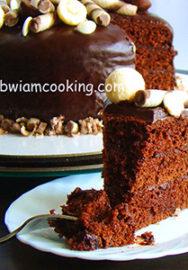 Торт шоколадный на сметане со сгущенкой