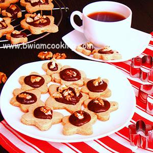 Печенье песочное с грецкими орехами