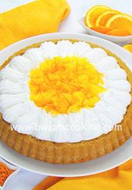 Пирог с апельсинами и взбитыми сливками