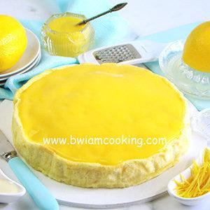 Чизкейк творожный хлопковый со сгущенкой и лимоном