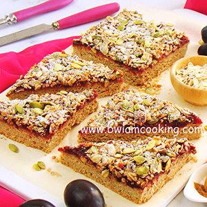 Печенье овсяное со сливами