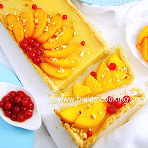 Пирог песочный «Тарт» персиковый