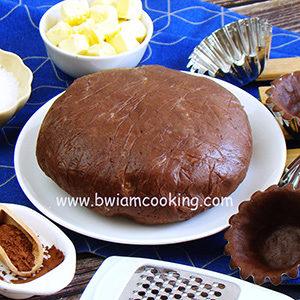 Тесто песочное сладкое шоколадное