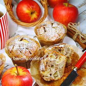 Кексы «Маффины» с яблоками и корицей