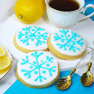 Печенье песочное лимонное «Снежинка»