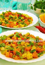 Салат с авокадо и тыквой