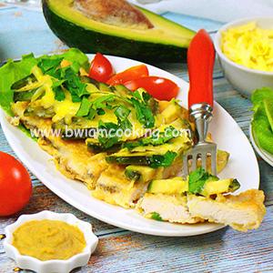 Куриные отбивные с сыром и авокадо