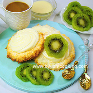 Пирожное кокосовое с киви