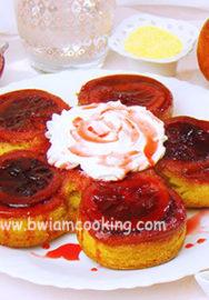 Перевернутый пирог с красными апельсинами