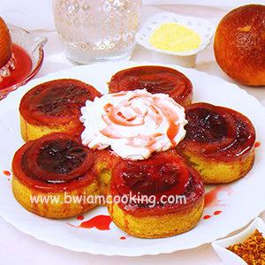 Пирог «Перевертыш» с апельсинами на сметане