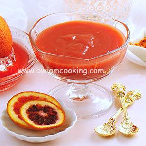 Крем «Курд» с красными апельсинами