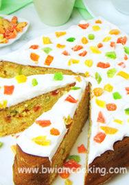 Пирог «Манник» на кефире с цукатами