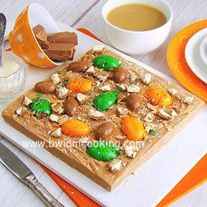 Помадка со сгущенкой и шоколадными яйцами