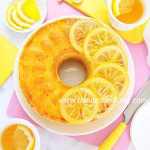 Пирог «Манник» на сметане с лимонами