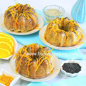 Кексы с апельсинами и маком