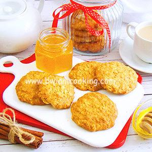 Печенье овсяное с медом и корицей