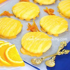 Печенье домашнее с глазурью и апельсинами