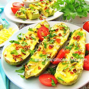 Кабачки с сыром, запеченные в духовке