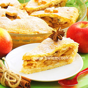 Пирог песочный закрытый с яблоками