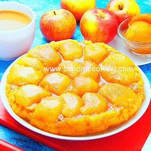 Пирог «Тарт Татен» c яблоками из слоеного теста