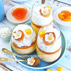 Десерт творожный с абрикосами без выпечки