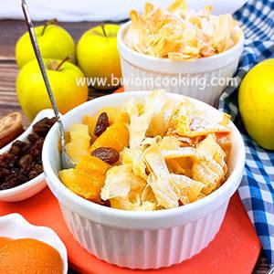 Пирог с яблоками и абрикосами в духовке